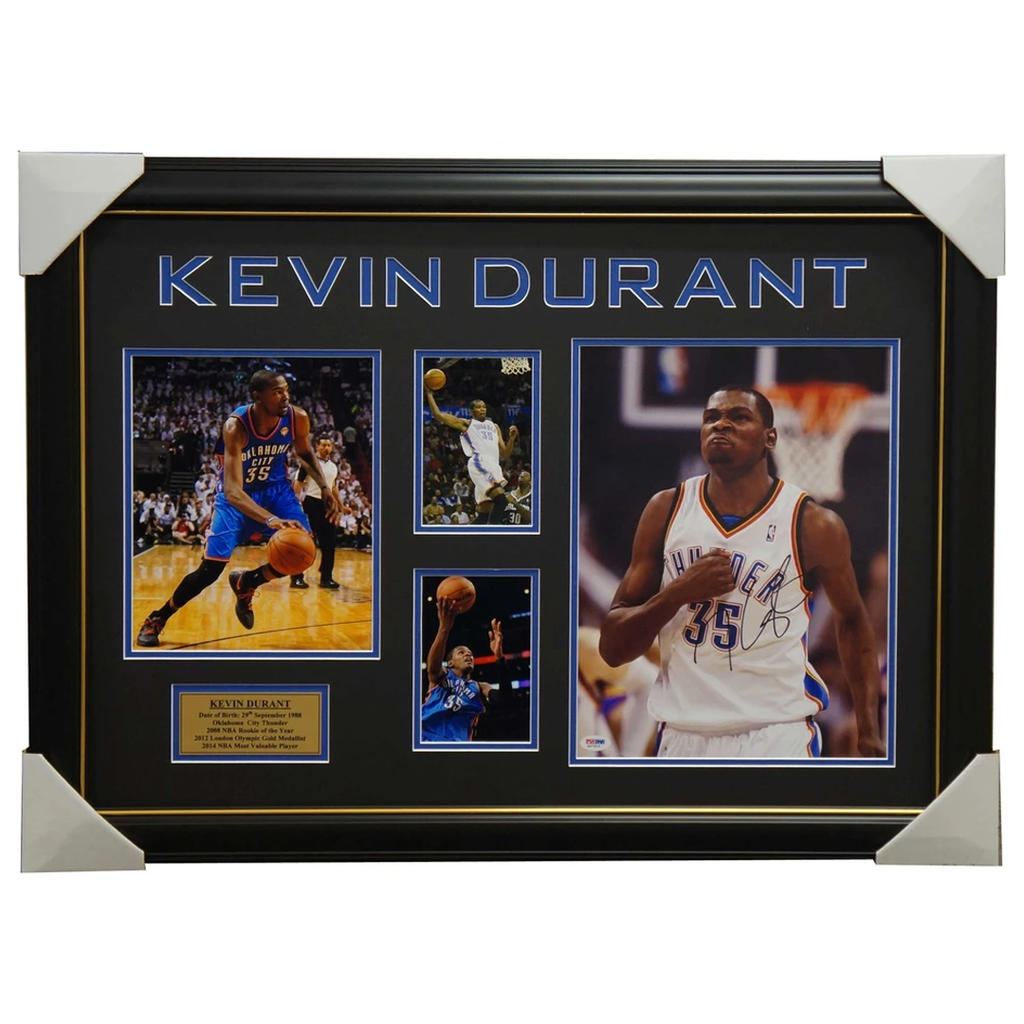 Kevin Durant Oklahoma City Thunder Signed Collage Framed - 4038