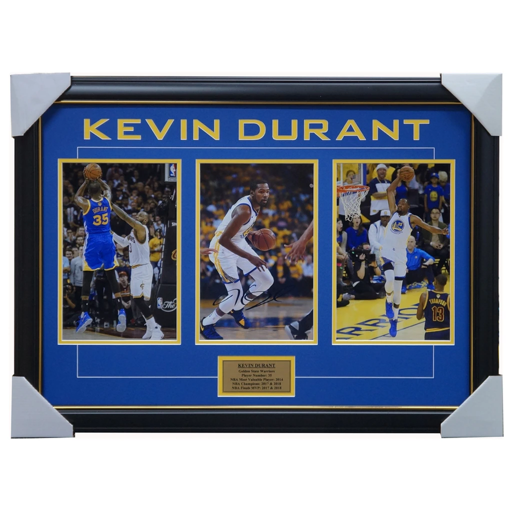 Kevin Durant Signed Golden State Warriors Nba Photos Framed 2018 Nba Champions - 3559