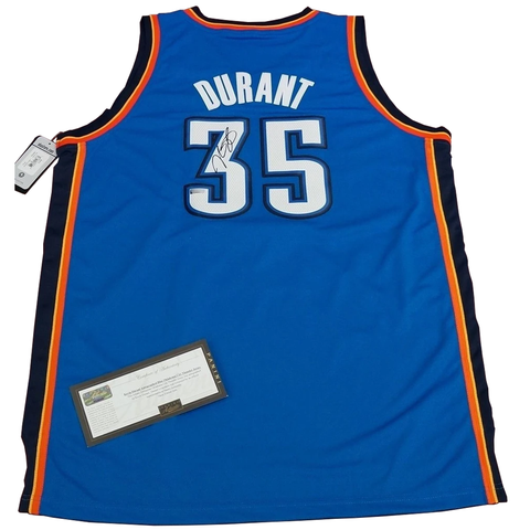 Kevin Durant Signed Oklahoma City Thunder Panini Authentic Blue Jersey - 2705 1 ONLY
