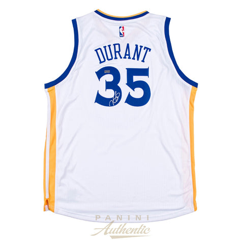 Kevin Durant Signed Golden State Warriors #35 NBA Official Panini Authentics Jersey - 4604
