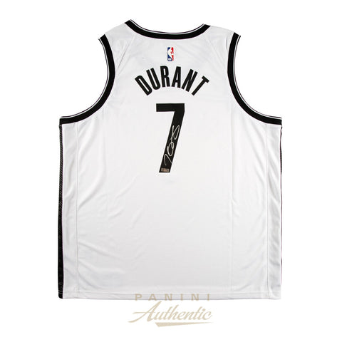 Kevin Durant Signed White Brooklyn Nets #7 NBA Official Panini Authentics Jersey - 4602