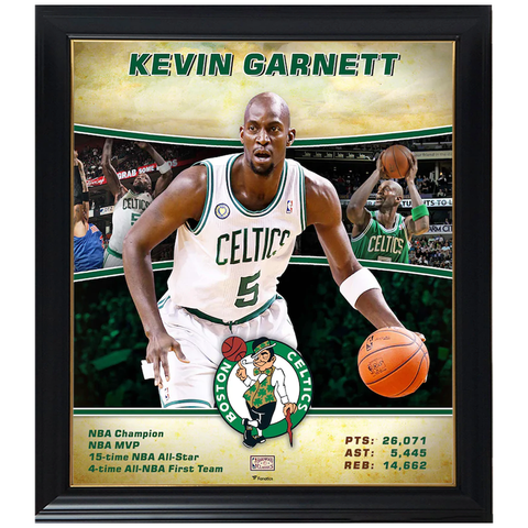 Kevin Garnett Boston Celtics Player Collage Official NBA Print Framed - 4361