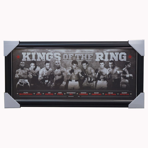King of the Rings Boxing World Champions Print Framed - 3967