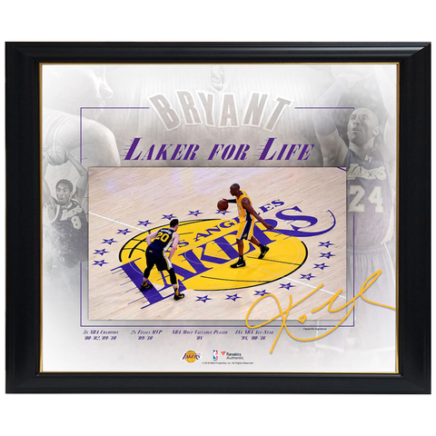Kobe Bryant Los Angeles Lakers Final Game Collage Facsimile Signed Official Nba Print Framed - 4324