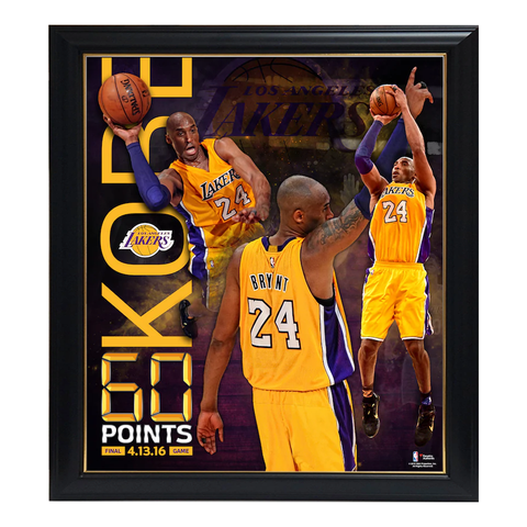 Kobe Bryant Los Angeles Lakers 60 Point Finale Collage Official Nba Print Framed - 4325