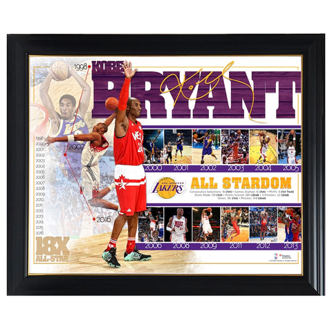 Kobe Bryant Los Angeles Lakers All-star Game Commemorative Collage Official Nba Print Framed - 4356
