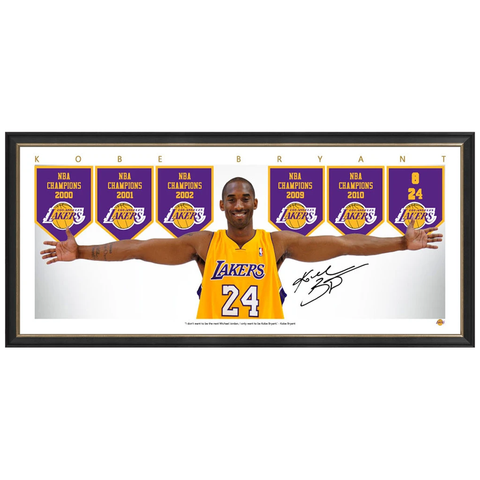 Kobe Bryant Los Angeles Lakers Signed Mini Wings Print Framed - 3988