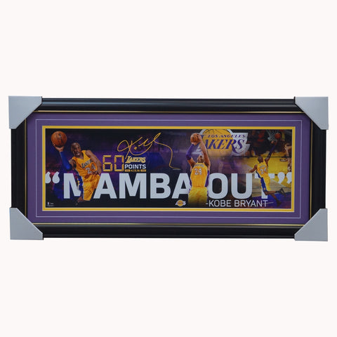 Kobe Bryant Los Angeles Lakers Signed Mamba Out Collage Official Nba Photo Framed - 4357