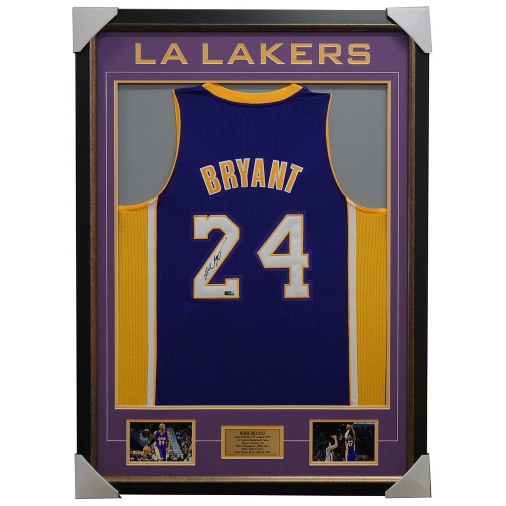 Kobe Bryant Signed La Lakers Purple Jersey 100% Authentic - 1069