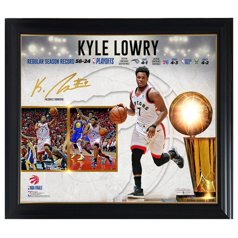 Kyle Lowry Toronto Raptors 2019 NBA Finals Champions Collage Official NBA Print Framed - 4430