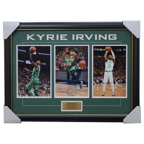 Kyrie Irving Signed Boston Celtics NBA Collage Framed with Photos+ COA Dr. Drew - 3562