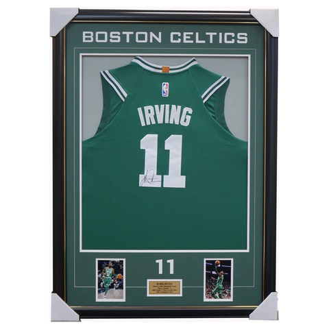 Kyrie Irving Signed Boston Celtics Nba Jersey Framed With Photos+ Coa Dr. Drew - 3561