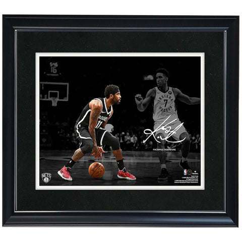 "Kyrie Irving Brooklyn Nets Framed 11"" x 14"" Spotlight Photograph - Facsimile Signature Fanatics Official - 4610"