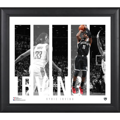 "Kyrie Irving Brooklyn Nets Framed 15"" x 17"" Player Panel Collage Fanatics Official - 4611"