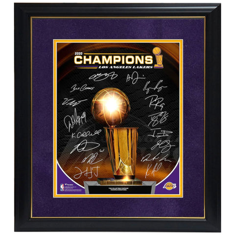 "Los Angeles Lakers Fanatics Authentic Framed 11"" X 14"" 2020 Nba Finals Champions Collage With Facsimile Signatures Frame - 4579"