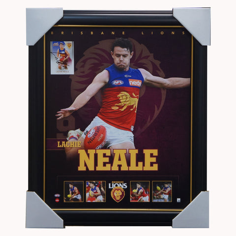 Lachie Neale Brisbane Lions F.C. Official Licensed AFL Signed Card Print Framed - 4596