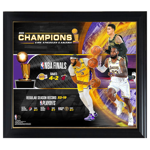 "Los Angeles Lakers Fanatics Authentic Framed 15"" X 17"" 2020 Nba Finals Champions Collage Frame - 4577"