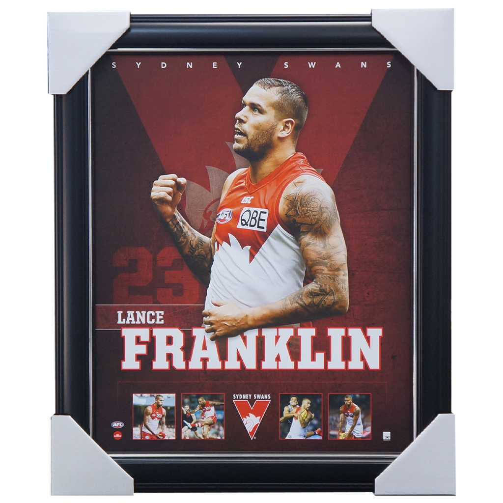 Buddy Franklin Sydney Swans Football Club Official Licensed Afl Print Framed - 3694