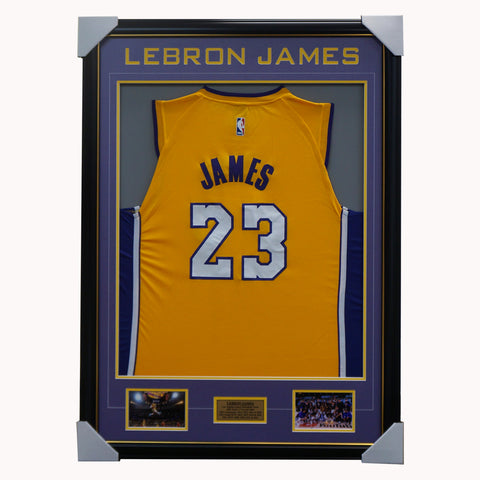 Lebron James Los Angeles Lakers 2020 Jersey Framed With Photos Nba Champions - 4547