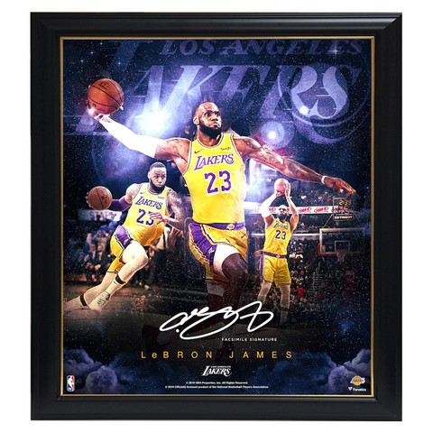 Lebron James Los Angeles Lakers Facsimile Signed Official NBA Print Framed - 3953