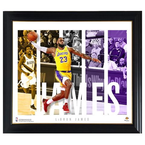 Lebron James Los Angeles Lakers Player Panel Collage Official Nba Print Framed - 4416
