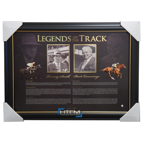 Legends of the Track Signed Bart Cummings & Tommy Smith L/e Print Framed - 2614