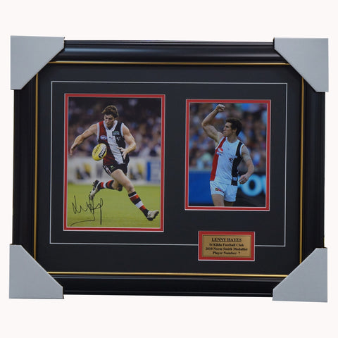 Lenny Hayes St Kilda Signed Photo Collage Framed - 4464