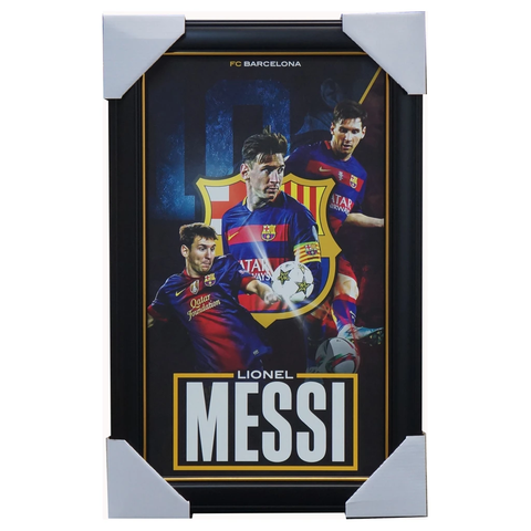 Lionel Messi Barcelona Sportsprint Framed - 3597