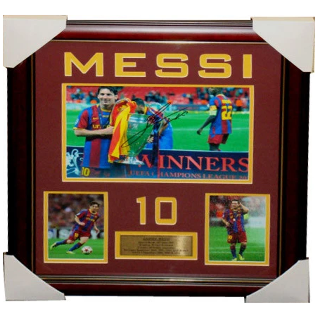 Lionel Messi Barcelona signed Photo Collage Framed - 3224
