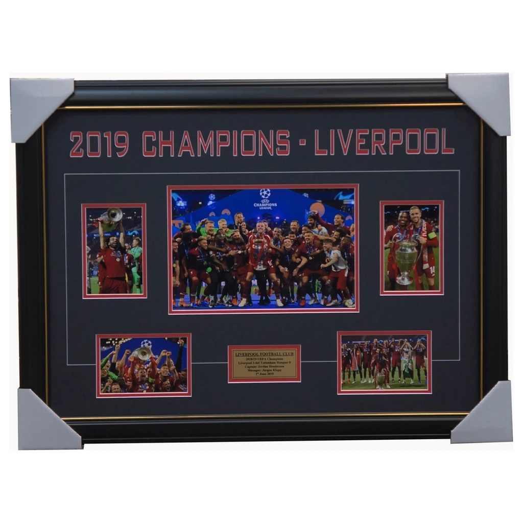 Liverpool 2019 UEFA Champions League Winners Photo Collage Framed Salah Henderson - 3700