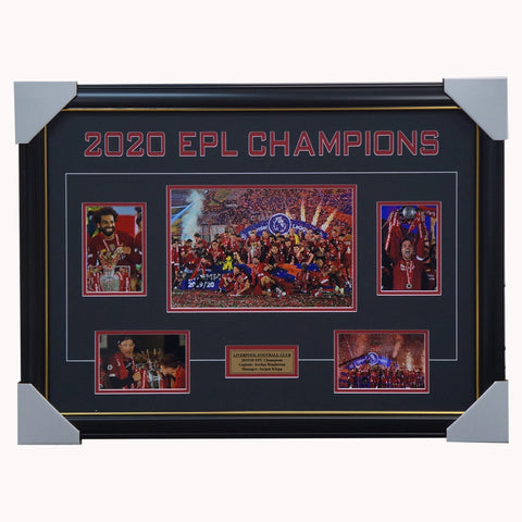 Liverpool 2020 EPL Champions Photo Collage Framed Salah Henderson - 4444