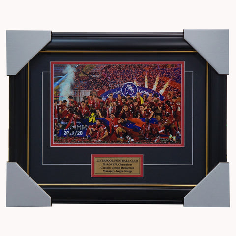 Liverpool 2019/20 EPL Champions Photo Framed with Plaque - 4445