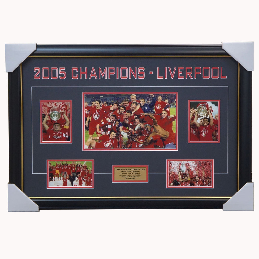 Liverpool 2005 Champions League Winners Collage Framed - 1116
