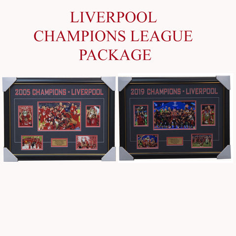 Liverpool 2005 & 2019 UEFA Champions League Dual Frame Package - 3701