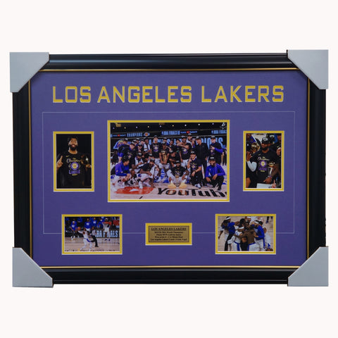 Los Angeles Lakers 2019/20 Nba Champions Photo Collage Framed - 4542