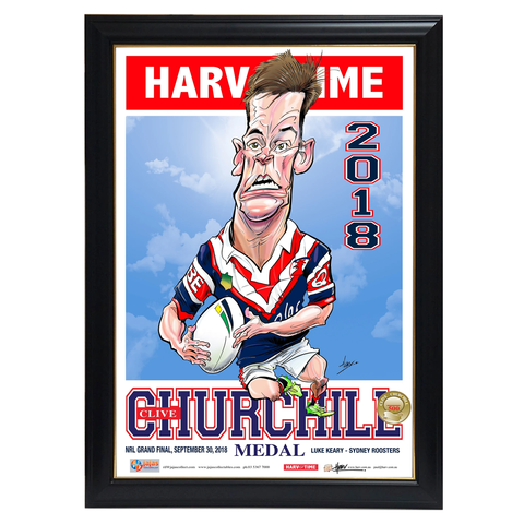 Luke Keary, 2018 Churchill Medallist, Harv Time Print Framed - 4059