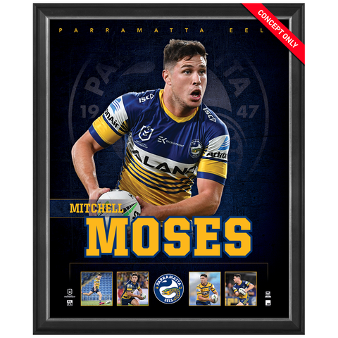 Mitchell Moses Parramatta Eels Official Nrl Player Print Framed New - 4377