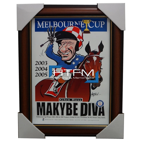 Makybe Diva Melbourne Cup Champion Harv Time Limited Edition Print Framed Boss - 1828