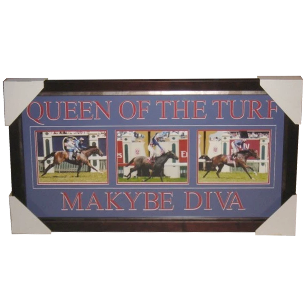 Makybe Diva Triple Melbourne Cup Photo Collage