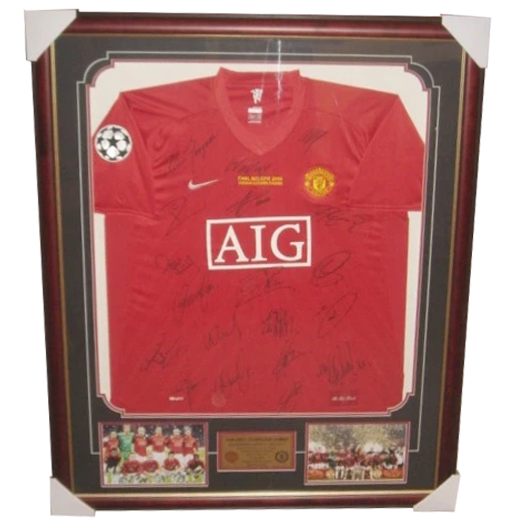 Manchester United Rare Limited Edition Champions League Jersey Signed Framed - 3962