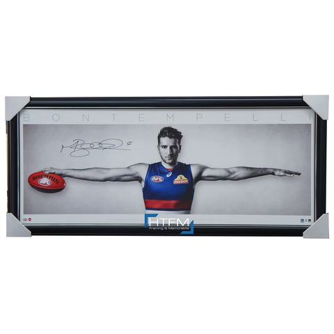 Marcus Bontempelli Signed WINGS Western Bulldogs Official AFL Print Framed + COA - 3470