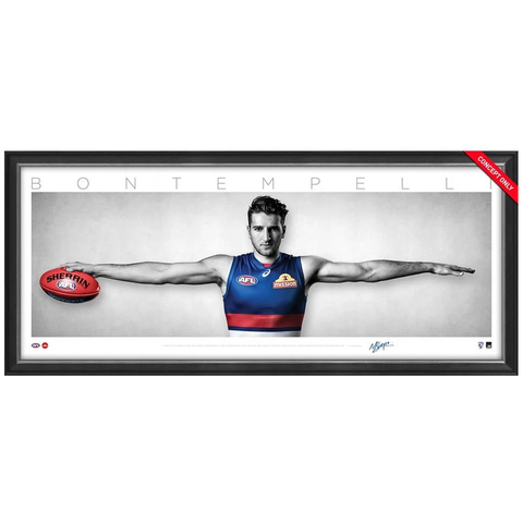 Marcus Bontempelli Signed Western Bulldogs Mini Wings Official AFL Print Framed NEW - 3745