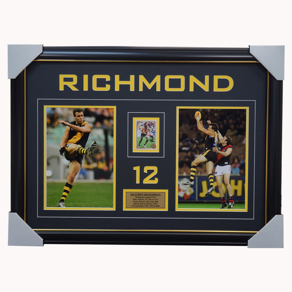 Matthew Richardson Richmond Signed Hall of Fame Card Collage Framed - 3527