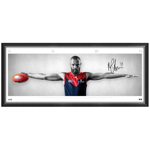 Max Gawn Signed Melbourne Demons Wings L/E Official AFL Print Framed IN STOCK NOW - 3721