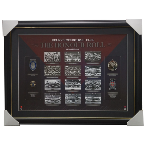 Melbourne Demons Afl Honour Roll With Medallions Print Framed Premiers - 3120