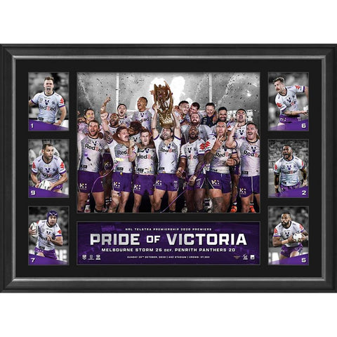 Melbourne Storm 2020 Nrl Premiers Official Tribute Frame - 4680