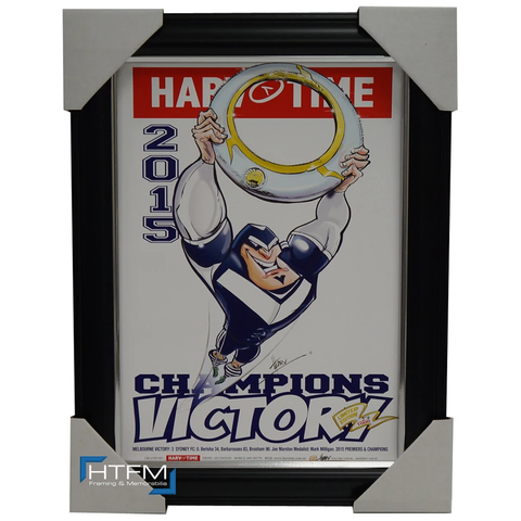 Melbourne Victory 2015 a-league Champions Harv Time L/e Print Framed - 1134