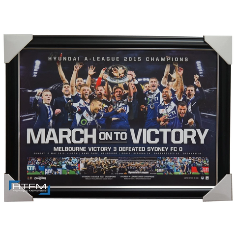 Melbourne Victory 2015 a-league Official Champions Team Print Framed Thompson - 1100