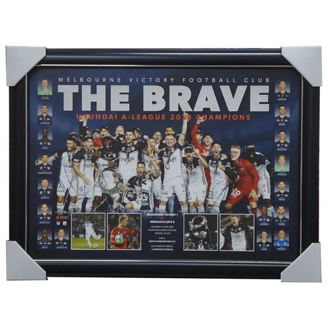 Melbourne Victory 2017/18 a-league Champions Official Limited Edition Sportsprint Framed - 3438