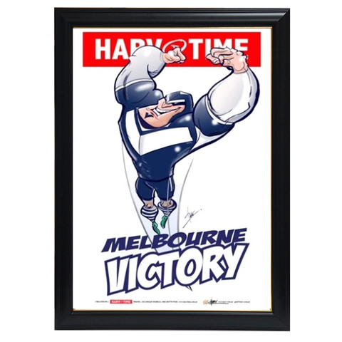 Melbourne Victory, a-league Mascot Harv Time Print Framed - 4186